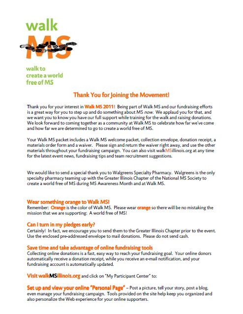 Download Center National MS Society – Fundraising Sponsorship Form